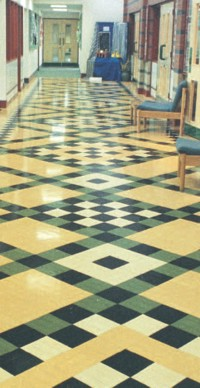 Decorative corridor floor by Granwood